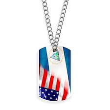 Bandera Nica y Americana Dog Tags