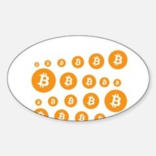 bitcoin pattern Decal