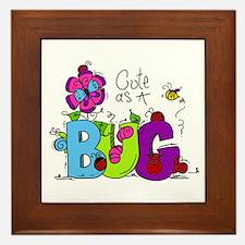 Cute as a Bug Framed Tile