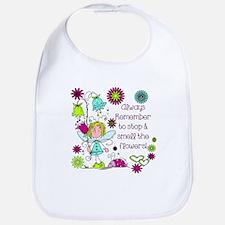 Smell the Flowers Bib