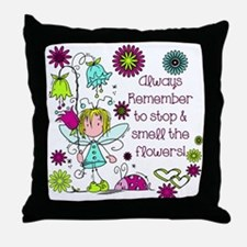 Smell the Flowers Throw Pillow