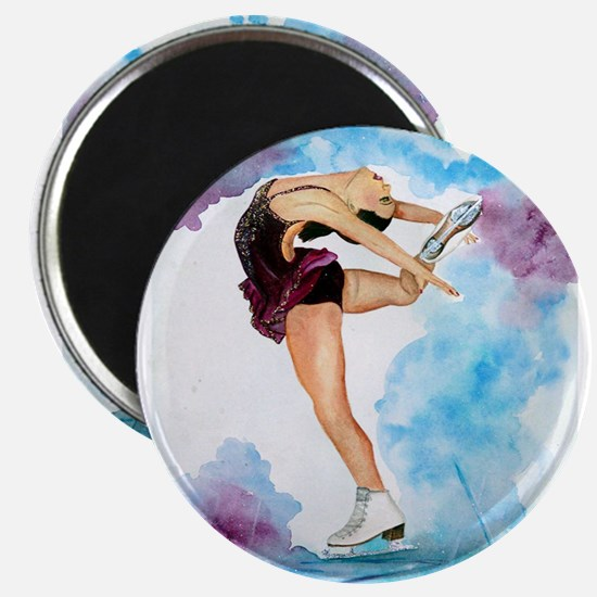 Ice Skate Spin to Perfection Magnet