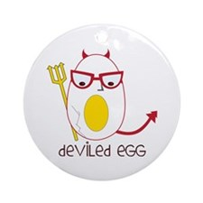 Deviled Egg Ornament (Round)