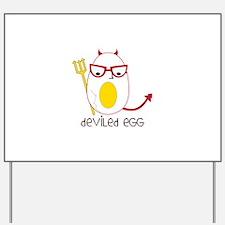 Deviled Egg Yard Sign