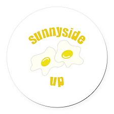 Sunnyside Up Round Car Magnet