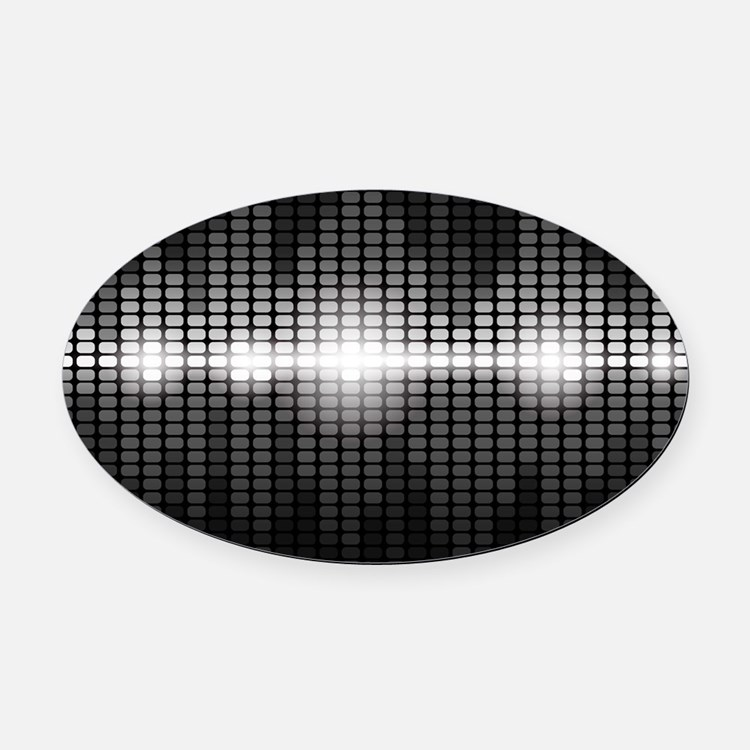 Sound Wave Oval Car Magnet