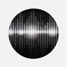 "Sound Wave 3.5"" Button (100 pack)"