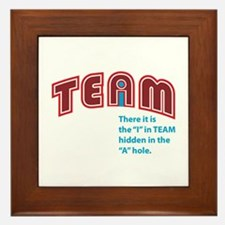 """I"" in Team Bauhaus Framed Tile"