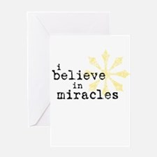 believemiracles-10x10.png Greeting Cards