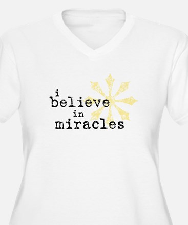 believemiracles-10x10.png Plus Size T-Shirt