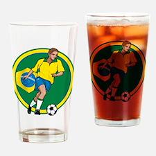 Go Brasil Brazil soccer Drinking Glass