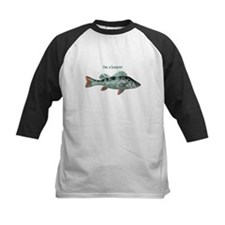 Im a Keeper Fun Quote with Fish Baseball Jersey