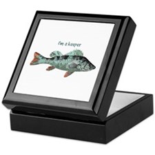 Im a Keeper Fun Quote with Fish Keepsake Box