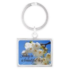 Today is a Beautiful Day flowers Keychains