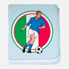 Go Italy Italia Soccer Football baby blanket