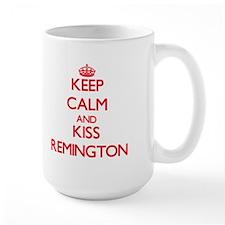 Keep Calm and Kiss Remington Mugs