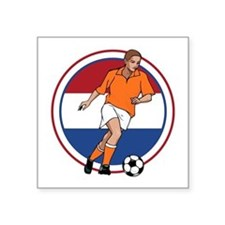 "GO Holland Netherlands socc Square Sticker 3"" x 3"""