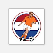 "GO Holland Netherlands socc Square Sticker 3"" x 3"""