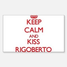 Keep Calm and Kiss Rigoberto Decal