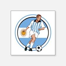 "GO Argentina Argentino socc Square Sticker 3"" x 3"""