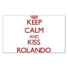 Keep Calm and Kiss Rolando Decal