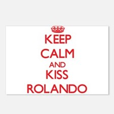 Keep Calm and Kiss Rolando Postcards (Package of 8