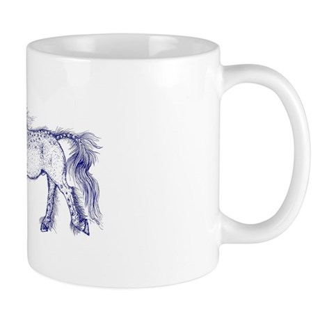 Blue/Black Unicorn Zephyr Mug