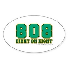 808 Oval Decal