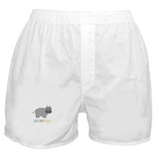Peace, Love & Hippos! Boxer Shorts