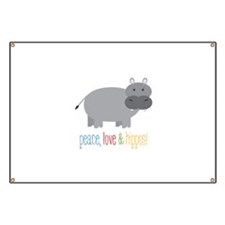 Peace, Love & Hippos! Banner
