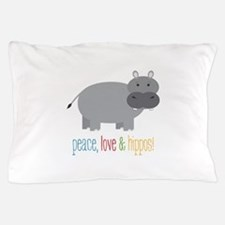 Peace, Love & Hippos! Pillow Case