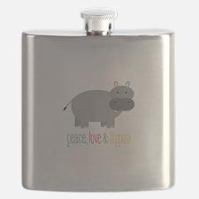 Peace, Love & Hippos! Flask