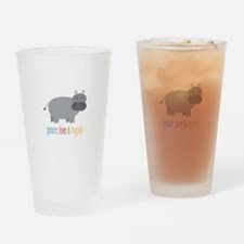 Peace, Love & Hippos! Drinking Glass