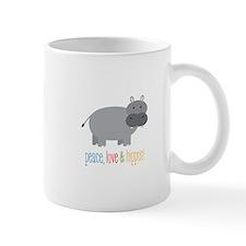 Peace, Love & Hippos! Mugs