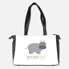Peace, Love & Hippos! Diaper Bag