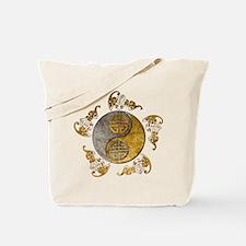Harvest Moons Bats Yin Yang Tote Bag