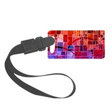 Mosaic in mosaic red Luggage Tag
