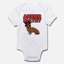 Pirate Dachshund Infant Bodysuit
