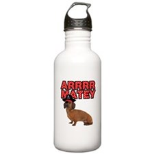 Pirate Dachshund Water Bottle