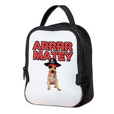 Pirate Chihuahua Neoprene Lunch Bag