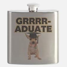 Graduation Chihuahua Flask