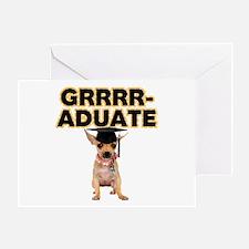 Graduation Chihuahua Greeting Card