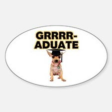 Graduation Chihuahua Decal