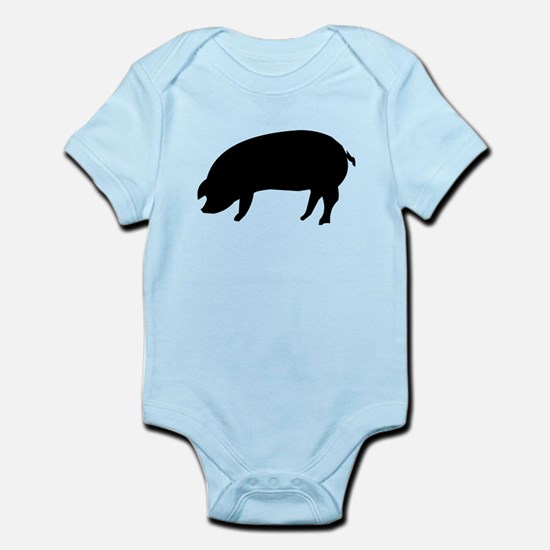 Pig Silhouette Body Suit