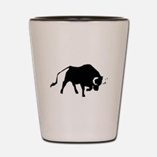 Charging Bull Silhouette Shot Glass