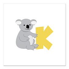 "K Square Car Magnet 3"" x 3"""