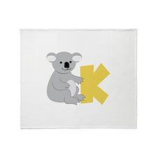 K Throw Blanket
