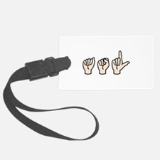 Sign Language Luggage Tag