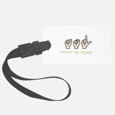 American Sign Language Luggage Tag