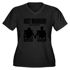 Just Married   Marriage Humor Plus Size T-Shirt